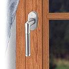 Πόμολο ασημί κυλινδρικό για πόρτες αλουμινίου (N8)