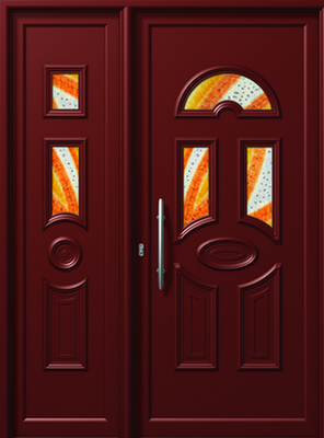 ΠΟΡΤΑ ΕΙΣΟΔΟΥ ΑΛΟΥΜΙΝΙΟΥ E858-E558 FUSED,όμορφη πόρτα αλουμινίου