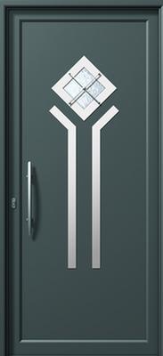 Πόρτα εισόδου inox (ΚΩΔ.I311M CA),ενεργειακά κουφώματα αλουμινίου Europa