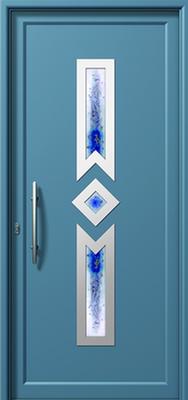 Πόρτα εισόδου με inox,κατασκευή και τοποθέτηση κουφωμάτων