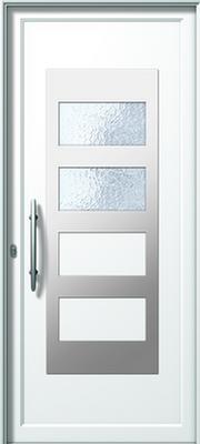 Πόρτα εισόδου με inox,συστήματα αλουμινίου Europa