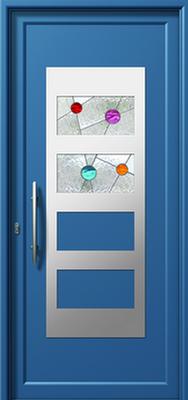 Πόρτα εισόδου με inox (ΚΩΔ.I327 VI),αντικατάσταση κουφωμάτων από την Fenestral