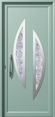 Πόρτα εισόδου με inox (ΚΩΔ.I342 FU-2),κατασκευή και τοποθέτηση κουφωμάτων