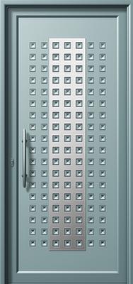 Πόρτα εισόδου με inox,θερμοδιακοπτώμενα κουφώματα αλουμινίου