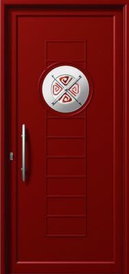Πόρτα εισόδου με inox,τοποθέτηση κουφωμάτων Fenestral