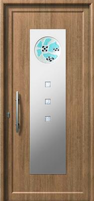 Πόρτα εισόδου με inox (ΚΩΔ.I387 FU),θερμομόνωση και ηχομόνωση