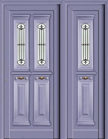 Πόρτα Europa με δεύτερο σταθερό φύλλο-αλουμίνια Fenestral