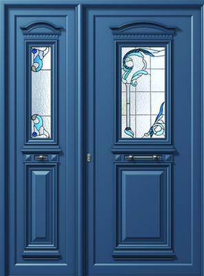 Πόρτα εισόδου παραδοσιακή με κορνίζα,παραδοσιακά κουφώματα αλουμινίου