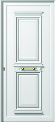 Πόρτα εισόδου αλουμινίου παραδοσιακή,τοποθέτηση κουφωμάτων αλουμινίου Fenestral