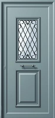 Πόρτα εισόδου παραδοσιακή αλουμινίου,αντικατάσταση κουφωμάτων Fenestral