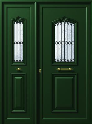 Παραδοσιακές πόρτες εισόδου αλουμινίου P115-P110,αλουμίνια Europa