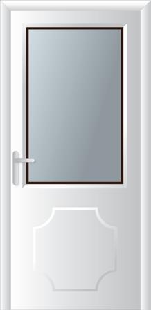 Κουζινόπορτα αλουμινίου σχέδιο 22,κατασκευή και τοποθέτηση κουφωμάτων Fenestral