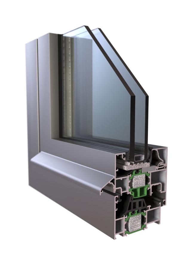 Υβριδικά κουφώματα EUROPA A40,η νέα σειρά στα ενεργειακά κουφώματα αλουμινίου με συντελεστή θερμοπερατότητας 1,1W/m2K,υπόσχεται απόλυτη θερμομόνωση και ηχομόμωση.